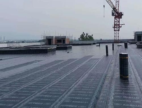 防水卷材施工现场